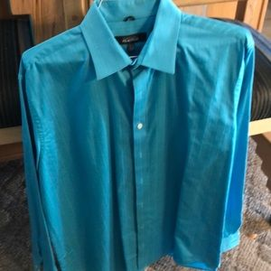 Kenneth Cole Reaction Bright Blue Dress Shirt